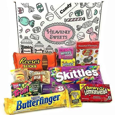 Kleiner Amerikanische Süßigkeiten Geschenkkorb von Heavenly Sweets ...