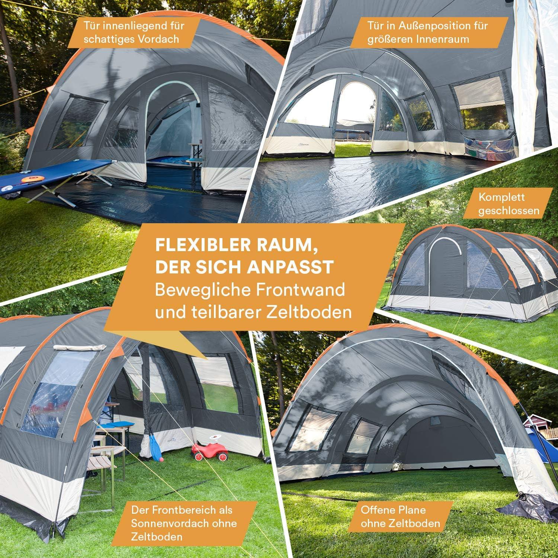 Tente de Camping familiale Tunnel 525 x 410 cm skandika Helsinki 6 Personnes 5000 mm