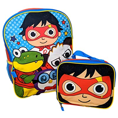 Ryan's World Let's Go 16 Inch Backpack with Insulated Lunch Box | Kids' Backpacks