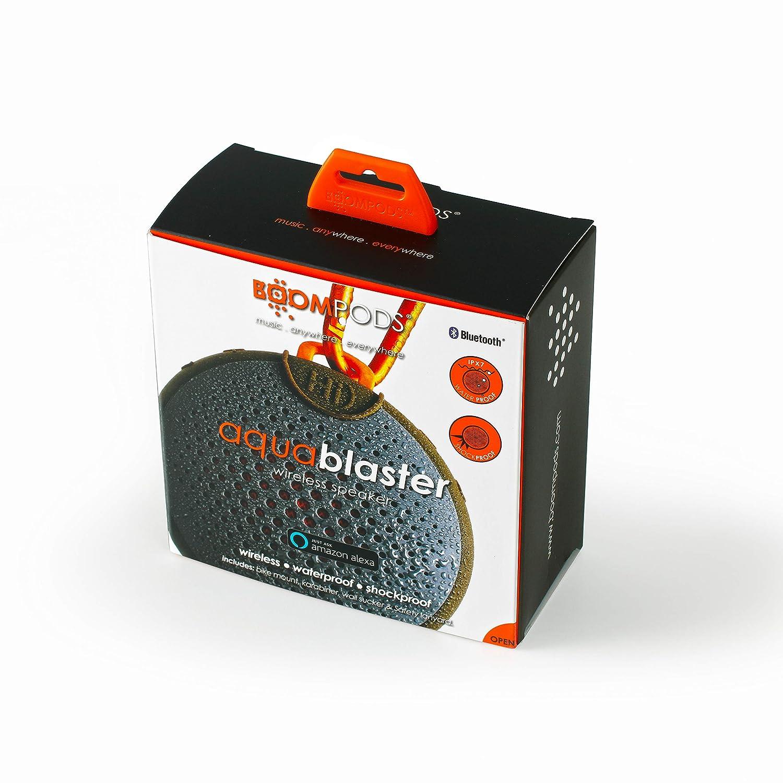 Boompods Aquablaster Bluetooth Wireless Speaker with Amazon Alexa – Green Orange