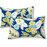 Greendale Home Fashions OC5811S2-MARLOW Rectangle Outdoor Accent Pillows, Marlow, Set of 2