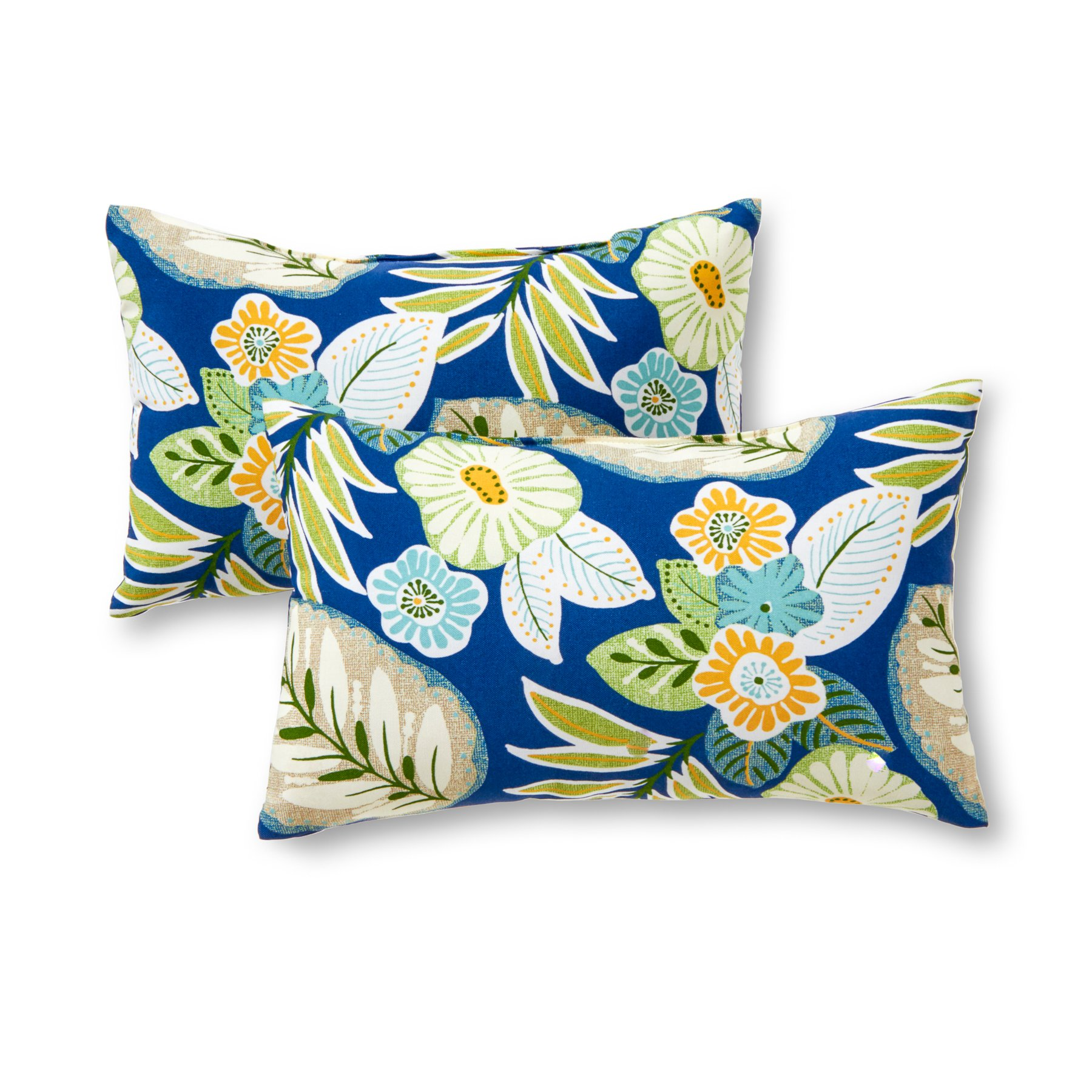 Greendale Home Fashions Rectangle Outdoor Accent Pillow (set of 2), Marlow