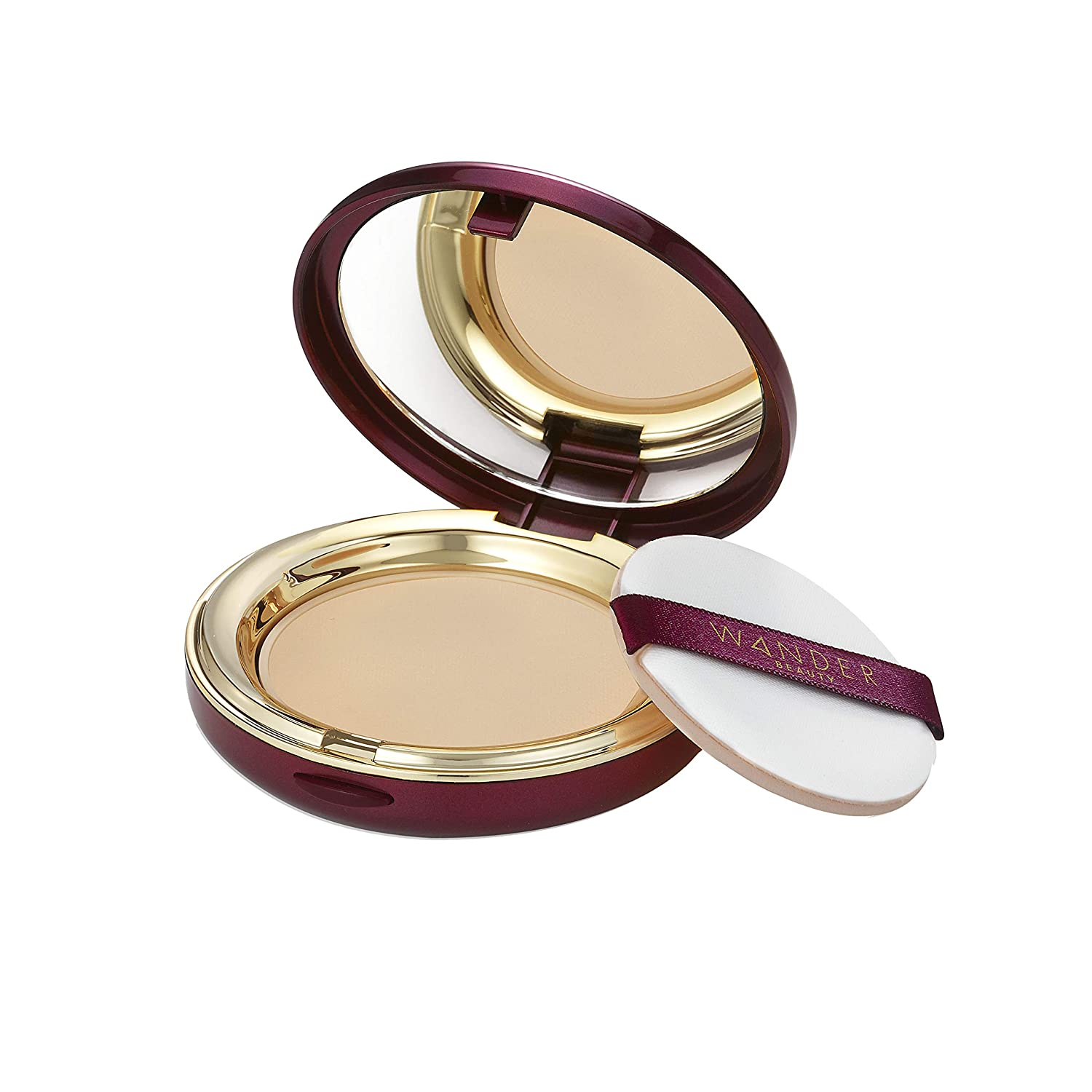 Wander Beauty Wanderlust Powder Foundation - Light Medium - Talc-free, our best-selling lightweight powder foundation covers everything, silky smooth, natural looking matte finish, sheer to buildable full coverage