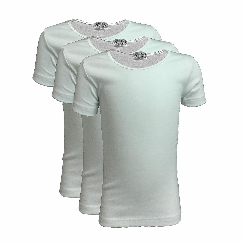a95abe7164 3 t-shirt bambina ragazza mezza manica girocollo caldo cotone LIABEL art.  02828/E26R bianco: Amazon.it: Abbigliamento