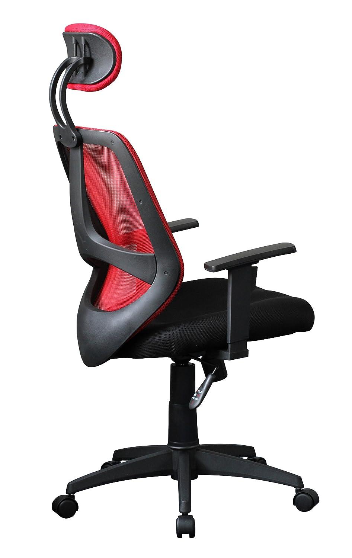 AMSTYLE Bürostuhl Bürostuhl Bürostuhl SPM1.206 Stoffbezug Schreibtischstuhl 120 kg Armlehne schwarz Chefsessel Drehstuhl Kopfstütze X-XL ac0074