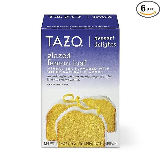 Tazo Filterbag Tea, Glazed Lemon Loaf, 15 ct (Pack of 6)