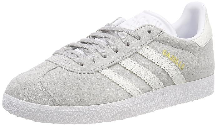 adidas Damen Gazelle Sneaker Grau mit weißen Streifen