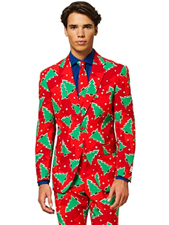 1a1d0e4f4d5 Amazon.com  OppoSuits Christmas Suits for Men in Different Prints – Ugly  Xmas Sweater Costumes Include Jacket Pants   Tie  Clothing