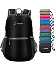 ZOMAKE Ultra Lightweight Foldable Backpack Water Resistant Hiking Daypack, Unisex Small Rucksack for Travel & Outdoor Sports