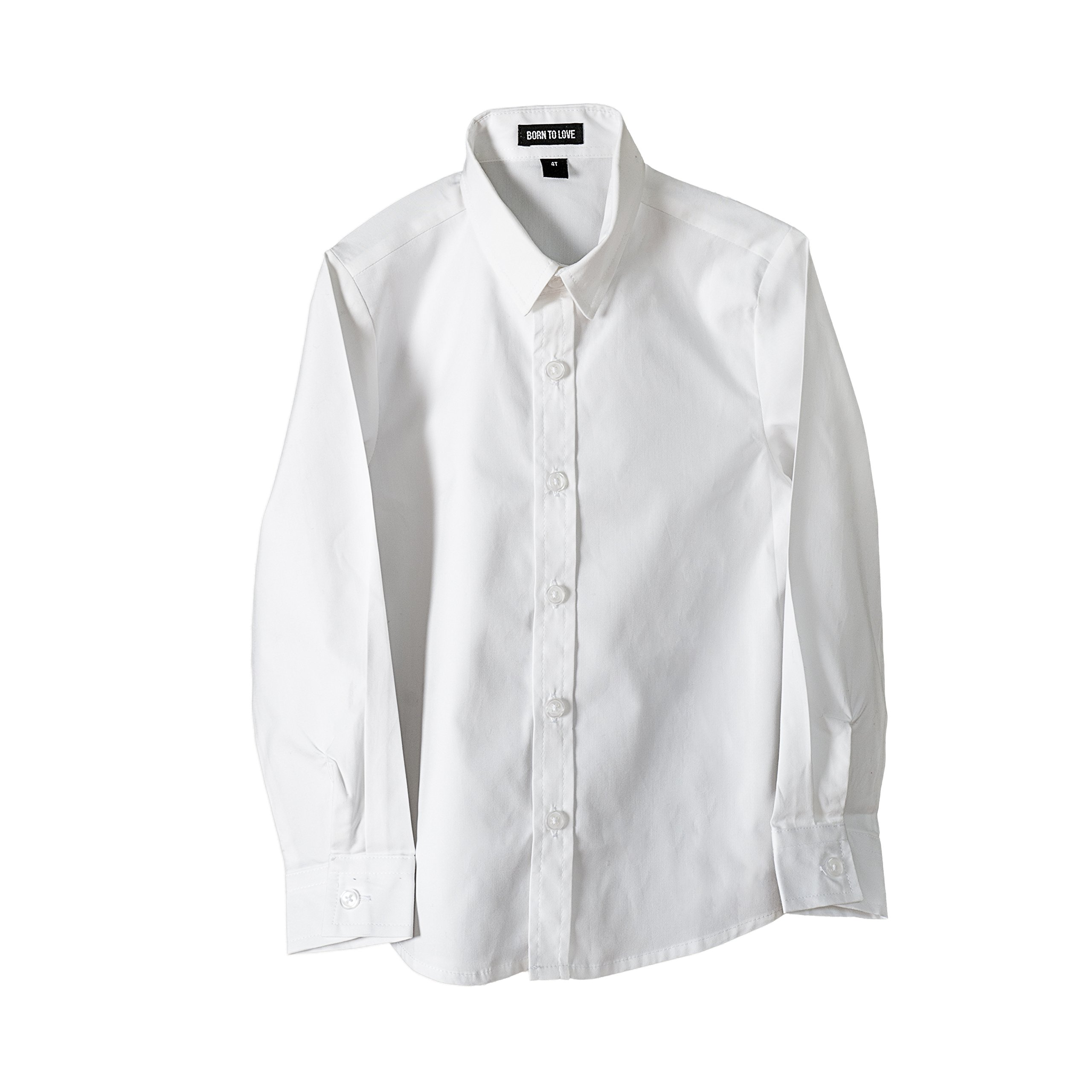 Born to Love - Wedding Baptism Birthday White Button-Up Shirt - Infant, Toddler & Boys 2T by Born to Love (Image #2)
