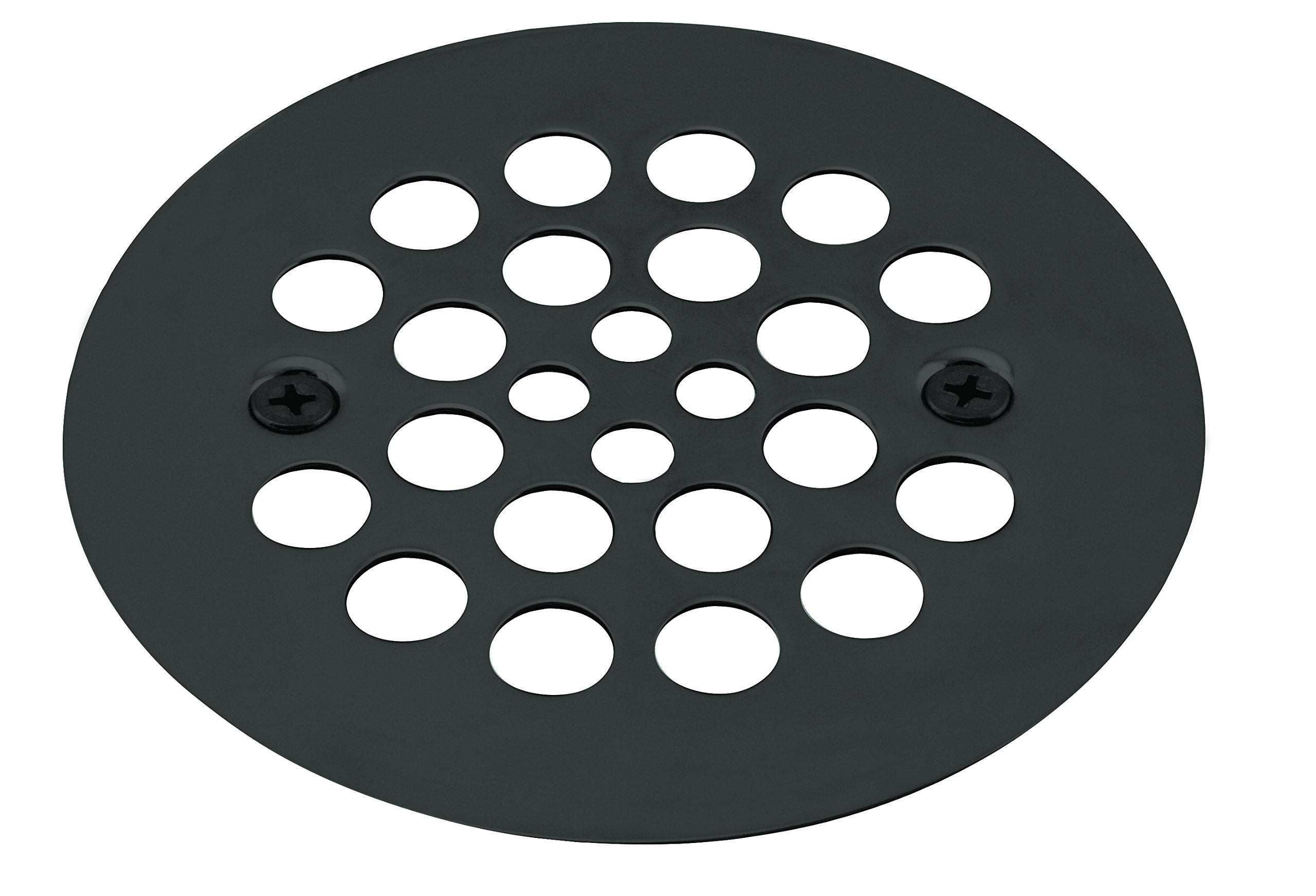 Westbrass 4-1/4'' O.D. Shower Strainer Plastic-Oddities Style, Matte Black, D3193-62