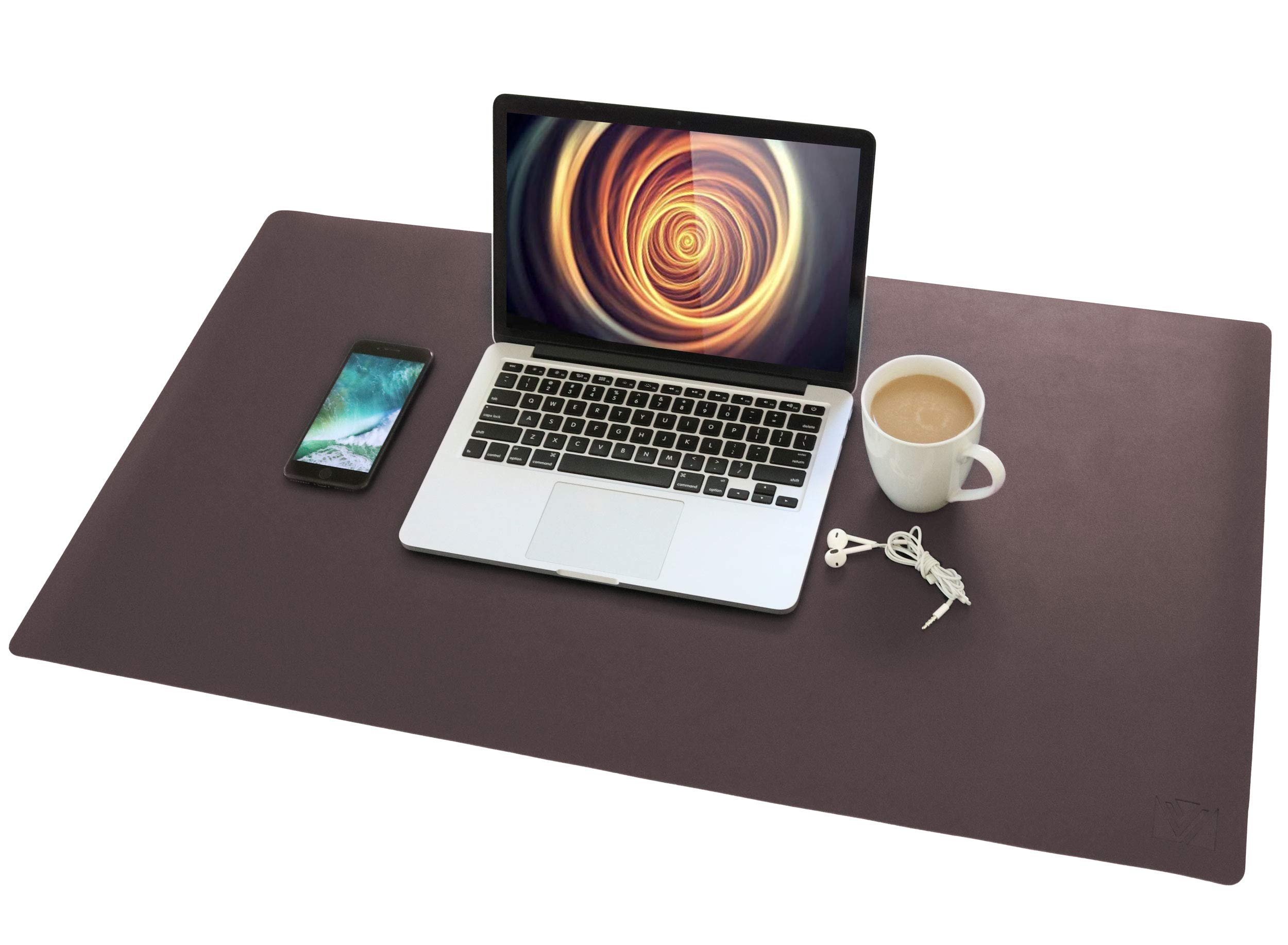 Leather Desk Pad 36''x 20'', VineCreations Office Desk Mat Blotter Waterproof Brown - Premium Quality - Smooth Mouse Writing Surface - Maximum Protection for Desk Office/Home by Vine Creations