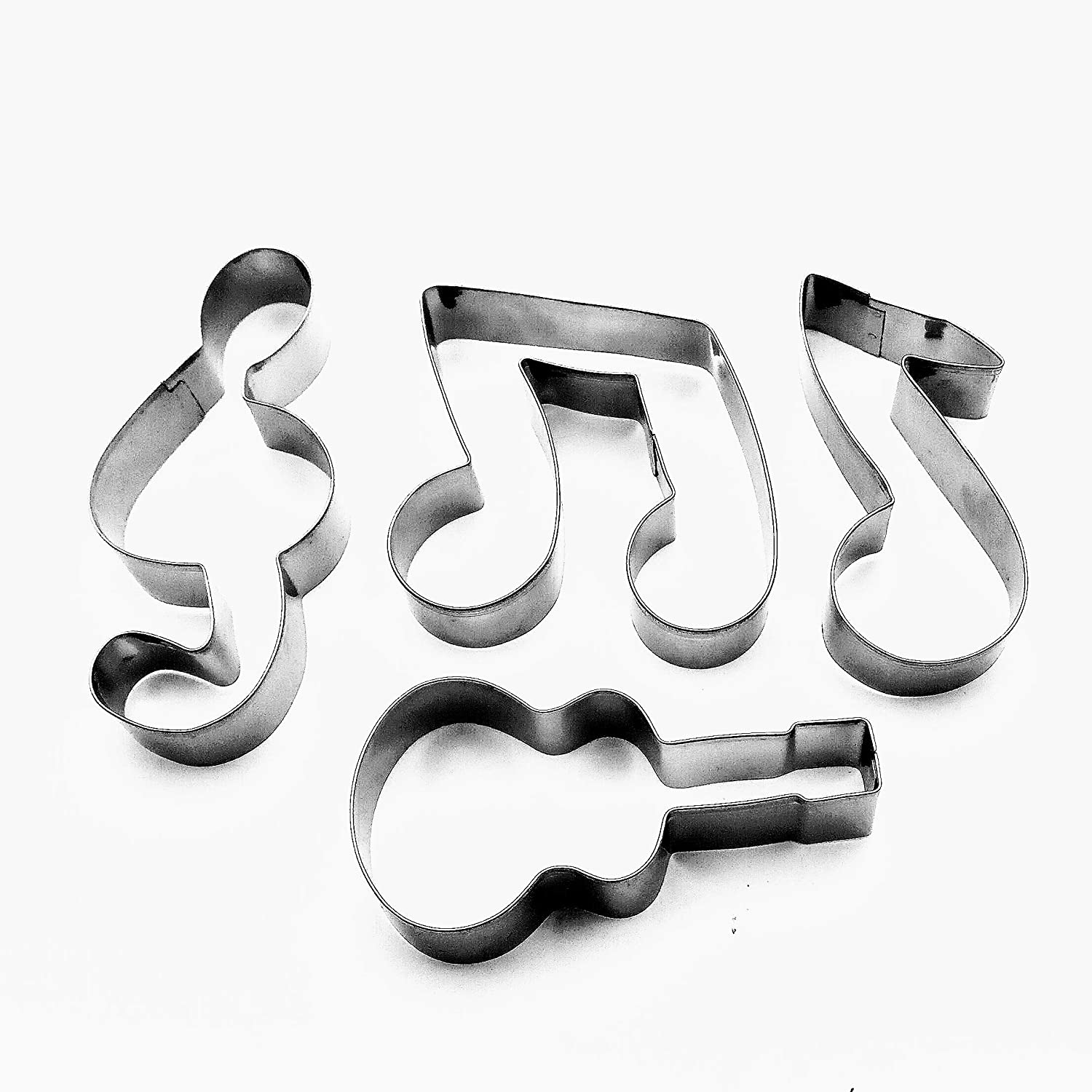 4 Pcs Music Notes Symbol Cookie Cutter Guitar Biscuit