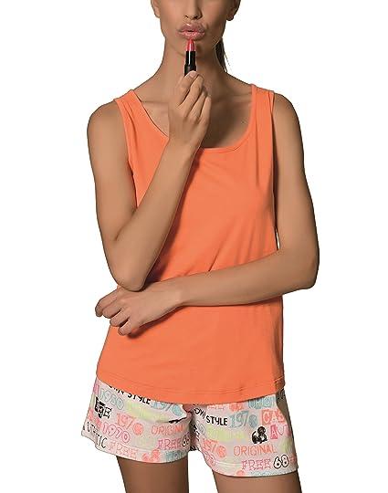 Pijama de Señora (Naranja, XS)