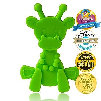 Baby Teething Toy Extraordinaire Little Bambam Giraffe Teether Toys By Bambeado Our Bpa Free