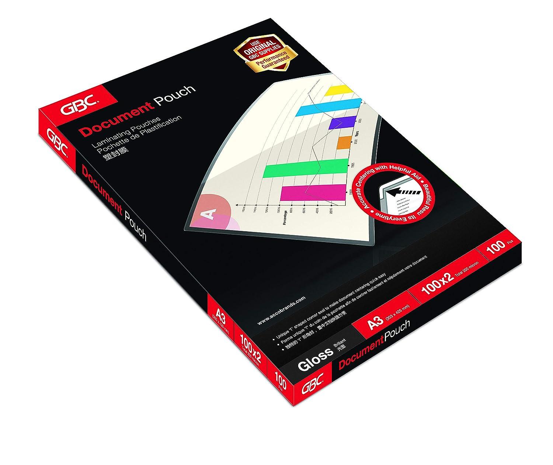 GBC IB585036 - Carteras de Plastificación con brillo, A4, 2 x 80 micras, pack de 100