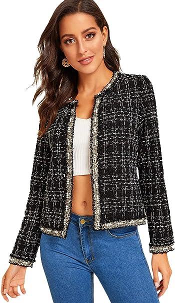tweed fabric blazer women clothing manufacturing companies
