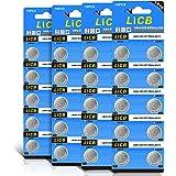 LiCB 40個 LR44 ボタン電池 アルカリ 電池