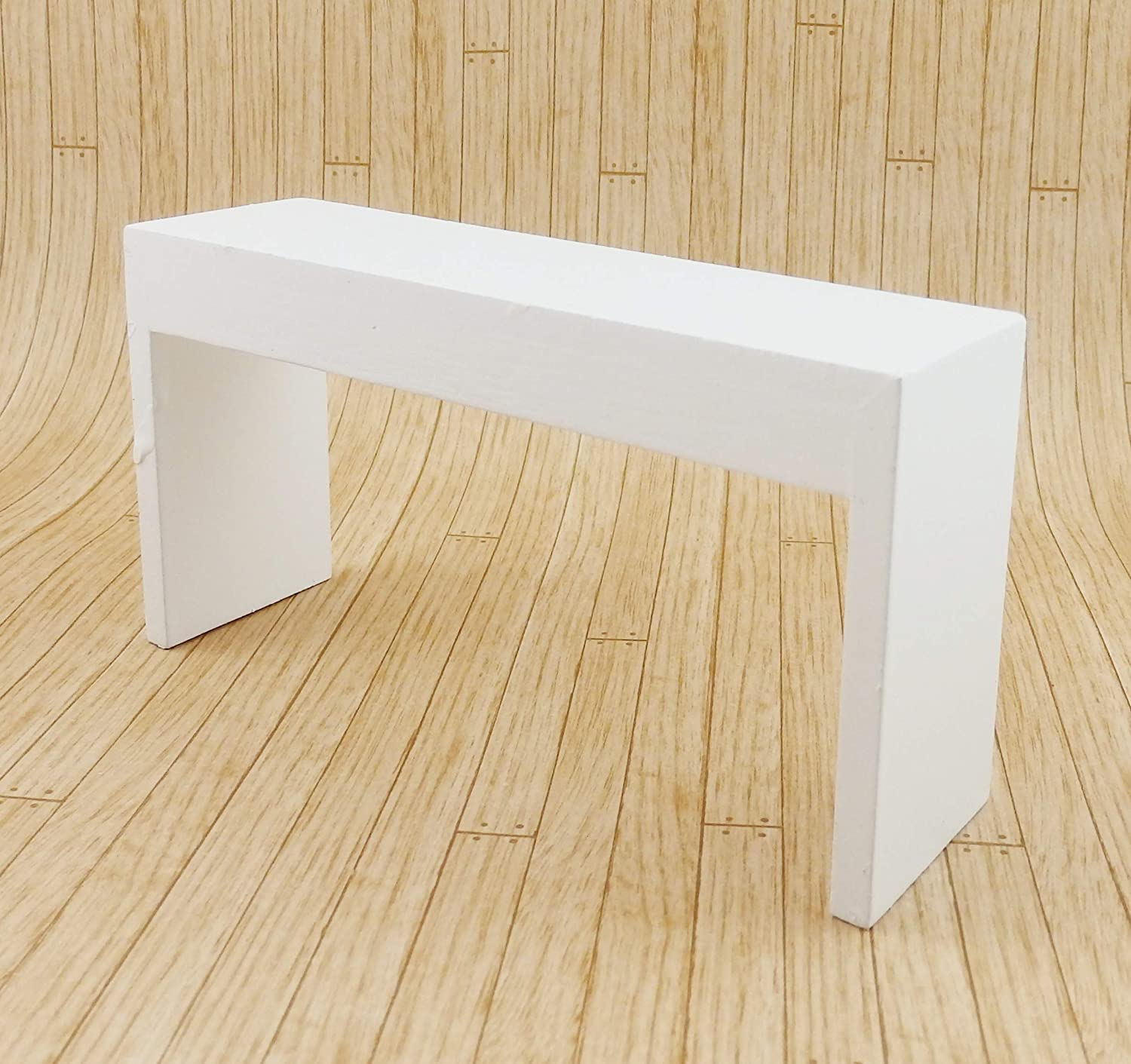 Melody Jane Dolls Houses Modern White Console Table Contemporary 1:12 Furniture