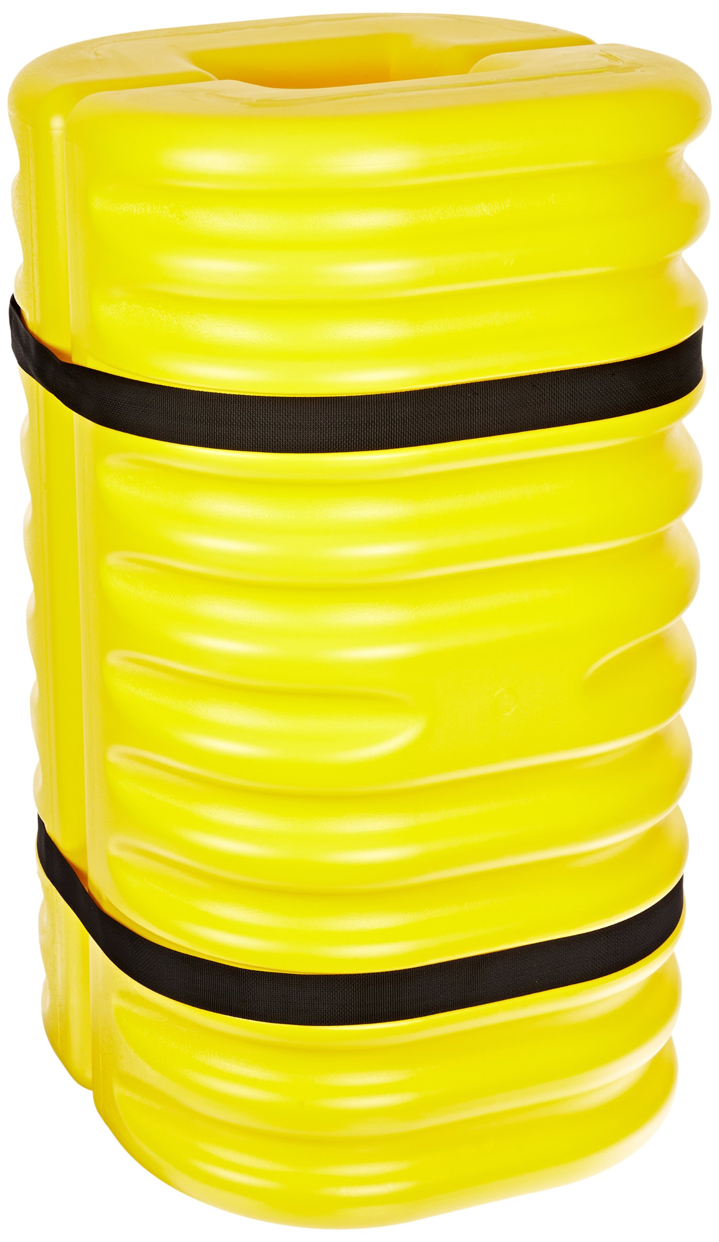 Eagle 1708 Blow-Molded High Density Polyethylene Column Protector for 8'' Column with Easy to Install Straps, Yellow, 24'' Length, 24'' Width, 42'' Height
