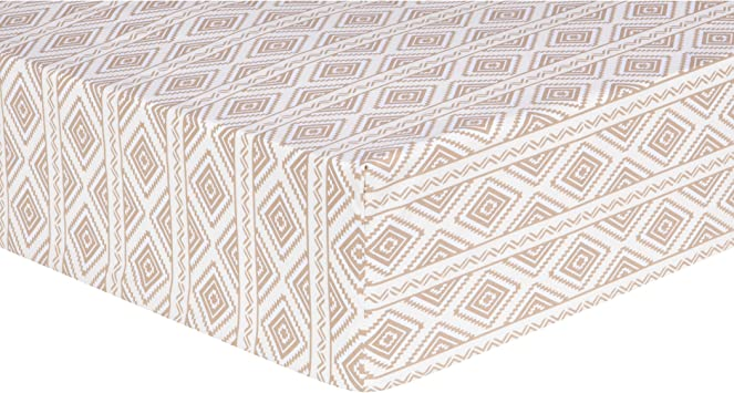 Trend Lab Deer Lodge Aztec Fitted Crib Sheet Cream
