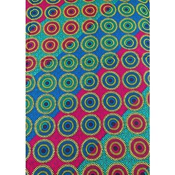 Qualität afrikanischen Stoffe Echtwachs rot blau Kreis Muster für ...