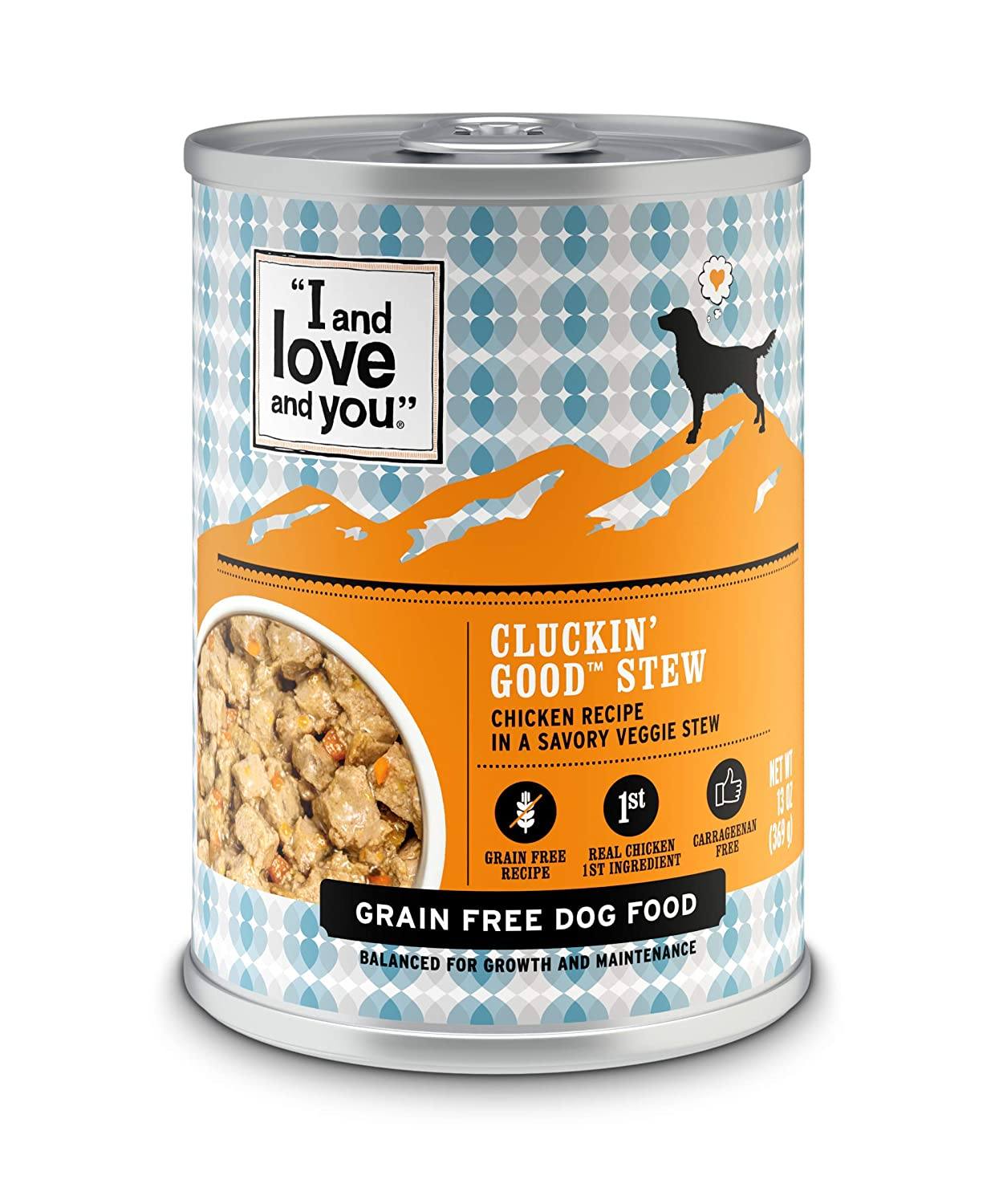 """I and love and you"" Cluckin' Good Stew Grain Free Canned Dog Food"