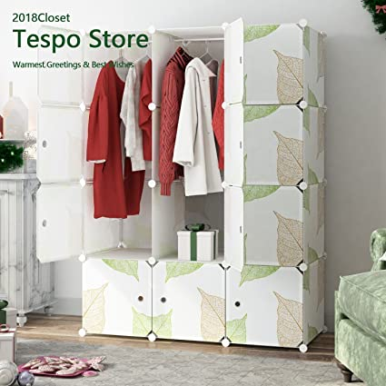 Superieur Tespo Portable Clothes Closet Wardrobe, DIY Modular Storage Organizer,  Sturdy Construction, Deeper Cubes