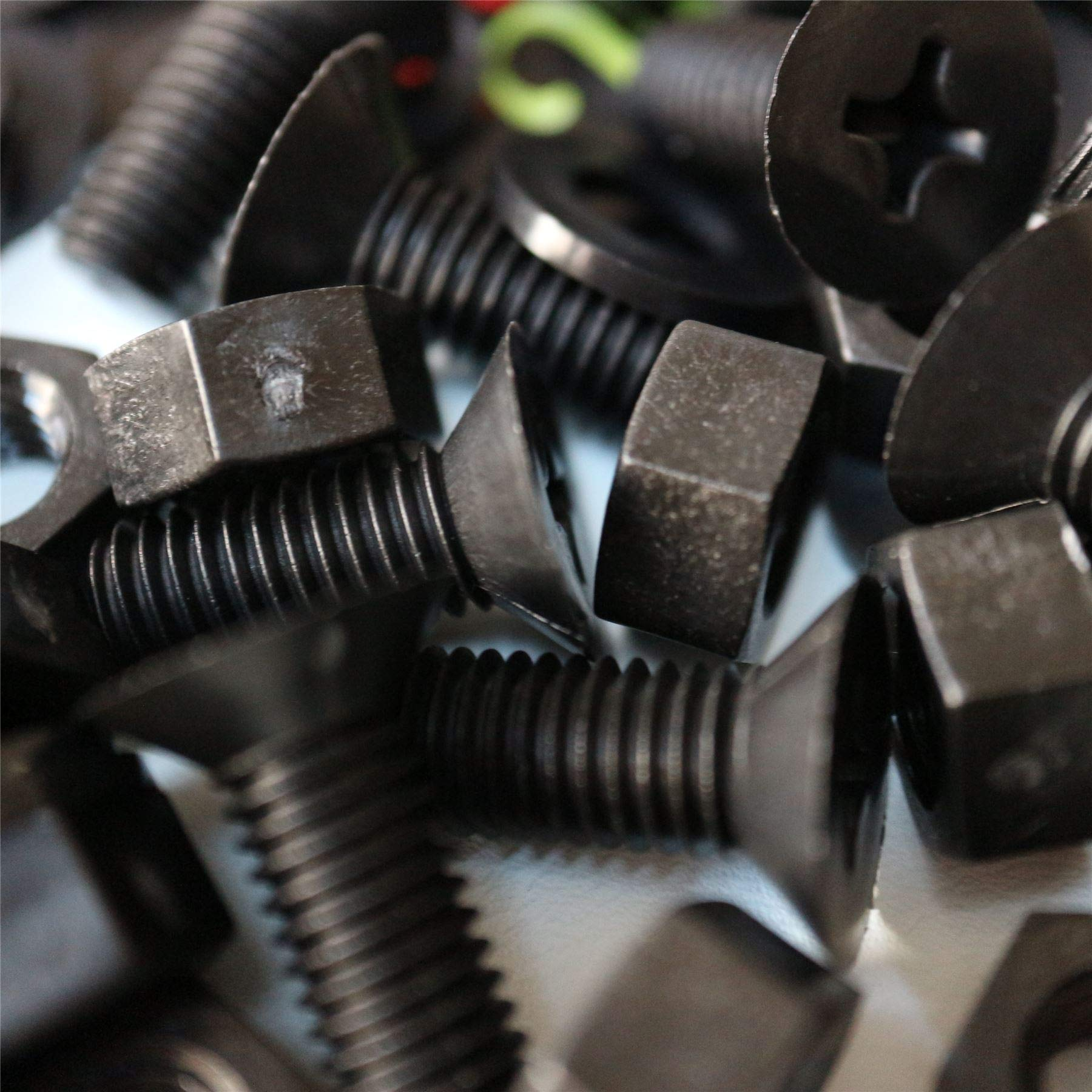 20 x Black Countersunk Screws Polypropylene (PP) Plastic Nuts and Bolts, Washers, M8 x 20mm, Acrylic, Water Resistant, Anti-Corrosion, Chemical Resistant, Electrical Insulator, Strong. 5/16 x 25/32''