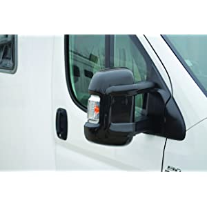 Milenco Clamp-On Black Plastic Side Mirror Protecting Cover Set