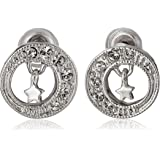 Nina Dynita' Mini Swarovski Moon and Stars Stud Earrings
