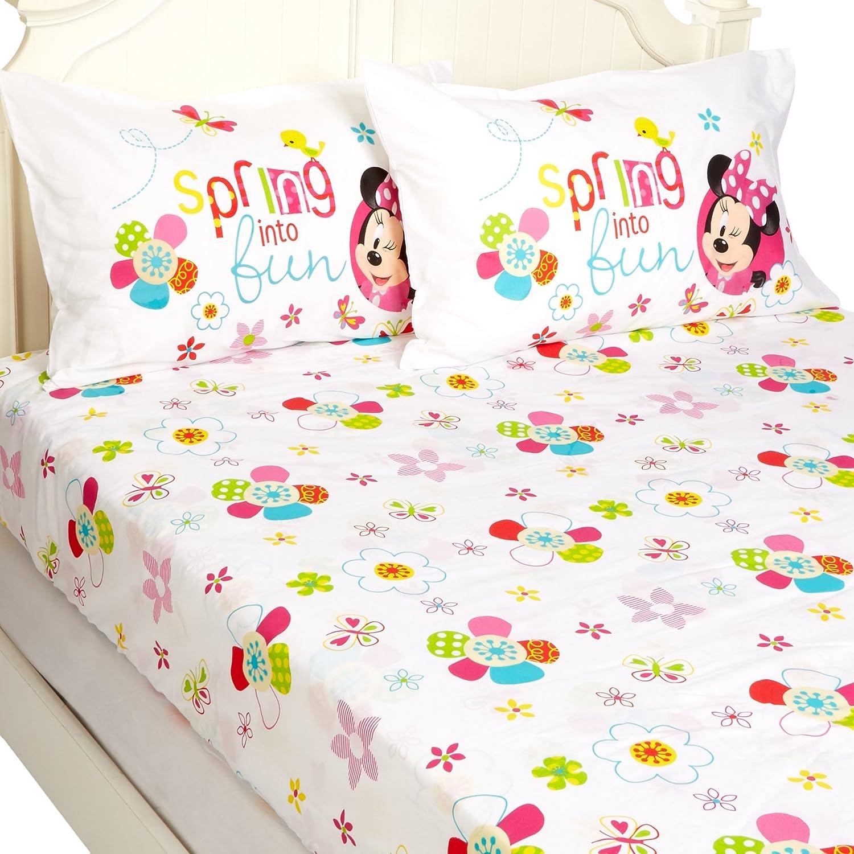 "Disney Minnie Mouse Bowtique Garden Party 54"" x 75"" Full Sheet Set"