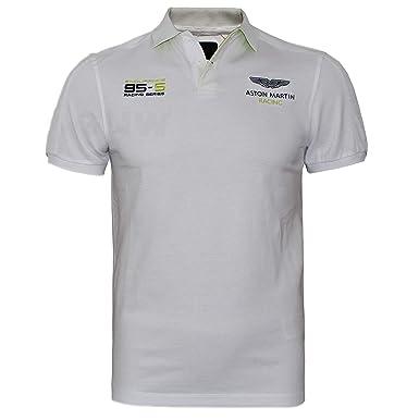 488556e2a03 Hackett Aston Martin Racing Men's Polo T-Shirt Shoulder & Arm Panel (Small,