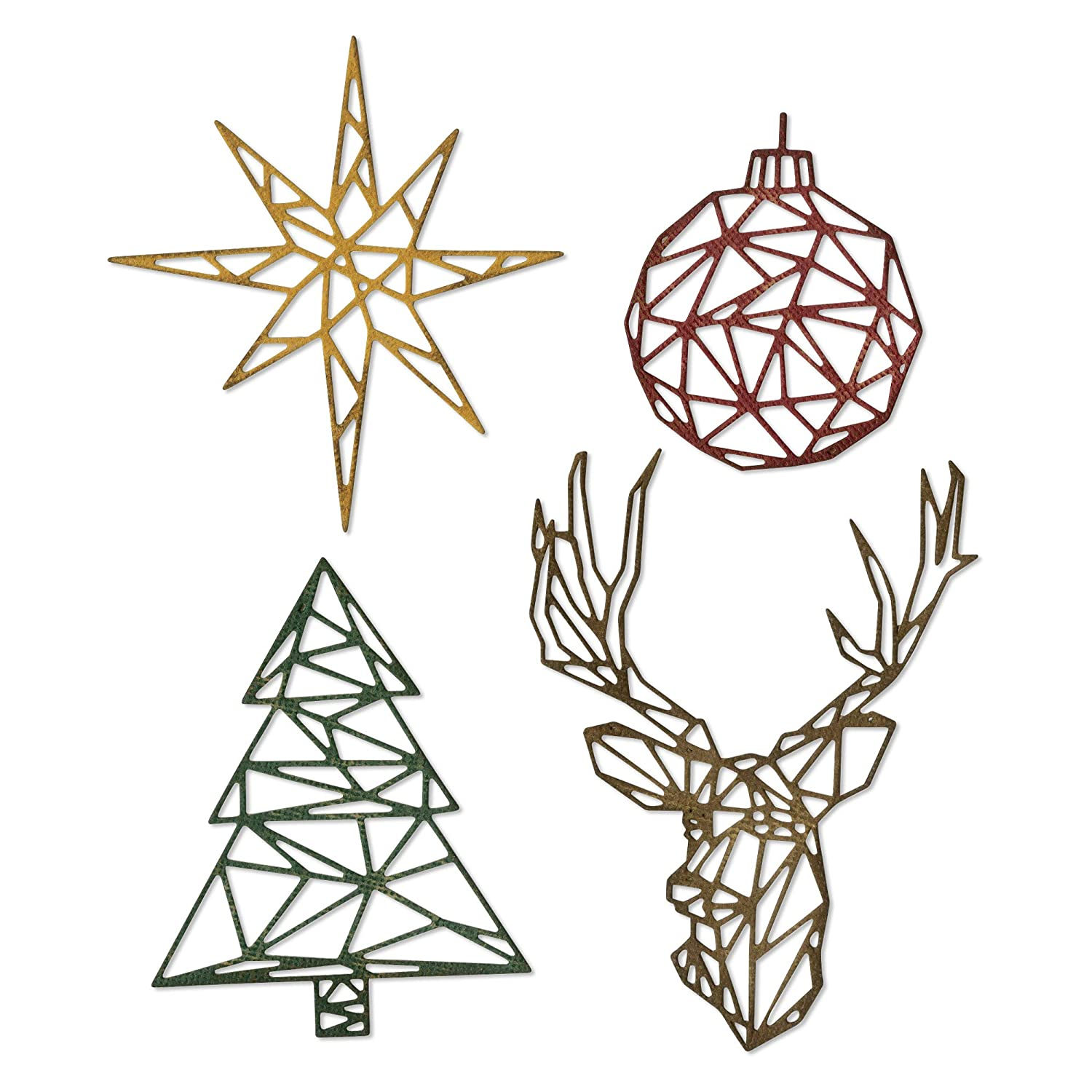 Sizzix 664202 Geo Christmas by Tim Holtz Dies Multicolor