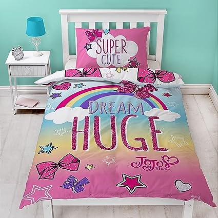 Amazon Com Jo Jo Siwa Bows Cute Single Panel Duvet Cover Bed Set
