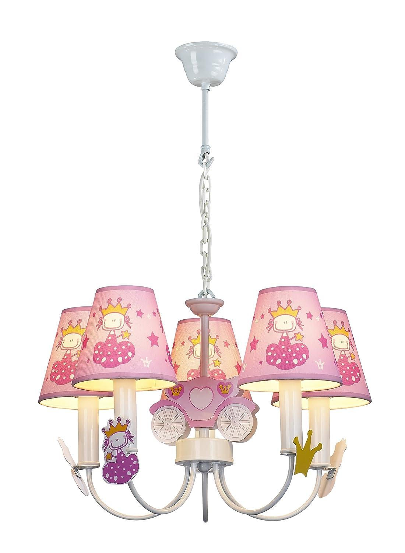 Purelume Deckenlampe Kinderzimmerlampe Princess Pink, farbig HK-DLP198