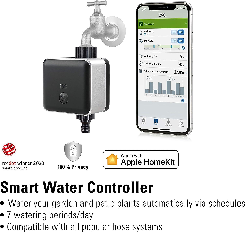 Controlador inteligente de riego para la app Home de Apple y Siri