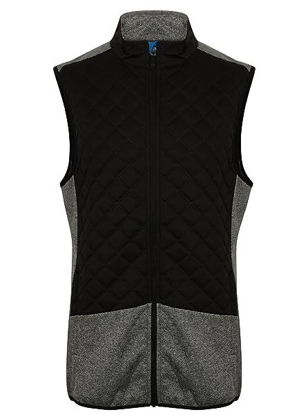 b6b3a53a8e91 Island Green 2017 Full Zip Lightweight Thermal Padded Gilet Mens Golf Vest  Black Medium