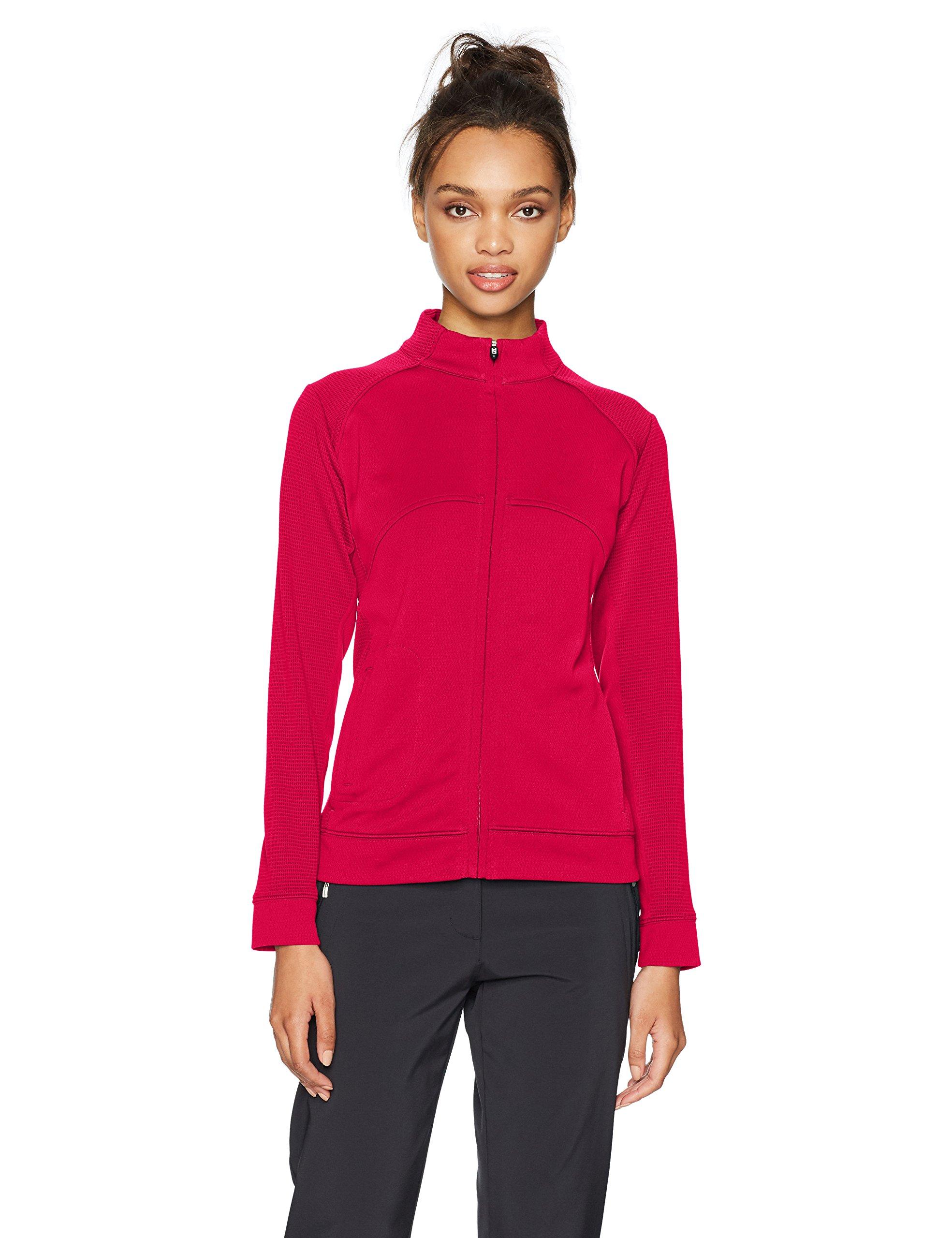 Cutter & Buck Women's CB Drytec Edge Full Zip, Cardinal Red, XXX-Large