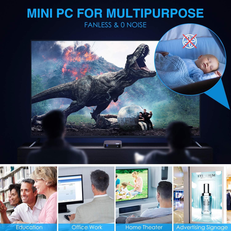 GUZILA Mini PC,Windows 10 Pro with Intel Atom Z8350 Processor,2GB DDR3,32GB eMMC,Fanless Mini Computer