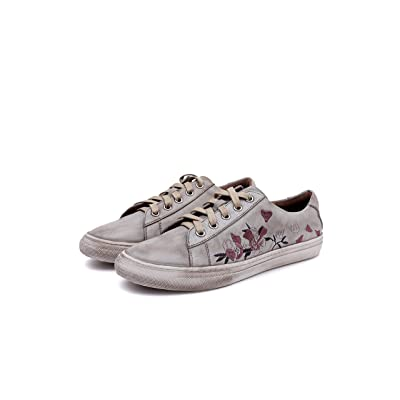 Dwarves Handmade Genuine Leather Cowhide Embroidered Fashion Sneaker | Shoes