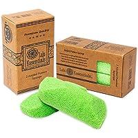 Lulu Essentials Foot Pumice (2 Pack) Scrubber Stone Sponge, Bath and Shower, Feet Care