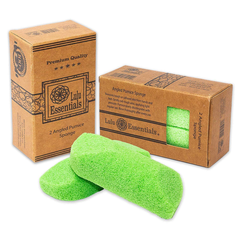 Lulu Essentials Foot Pumice (2 Pack) Scrubber Stone Sponge, Bath and Shower, Feet Care by Lulu Essentials (Image #1)