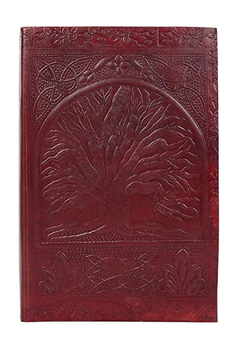 Tree of Life Sacred Leather Journal for Men Women by Rustic Town