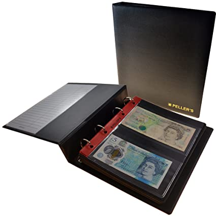 4a0843187a Collectors album per banconote in 20: 10 pagine, tasche 143 mm x 80 mm.  Raccoglitore ad anelli, taglia M: Amazon.it: Casa e cucina