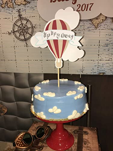 Amazon Com Hot Air Balloon Cake Topper Hot Air Balloon Baby Shower
