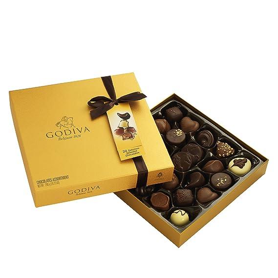 Godiva, Gold Rigid Box bombones pralines surtidos caja regalo 34 piezas, 385g