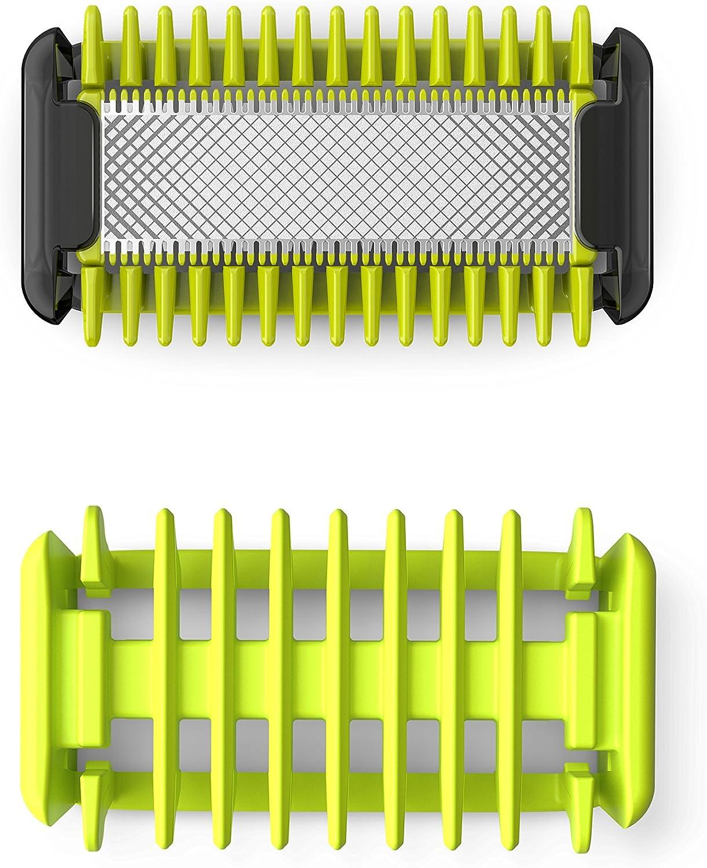 Philips OneBlade cara y cuerpo QP610/50 - Cuchilla de recambio para Philips OneBlade cara y cuerpo, 1 cuchilla para cuerpo y 1 peine-guía