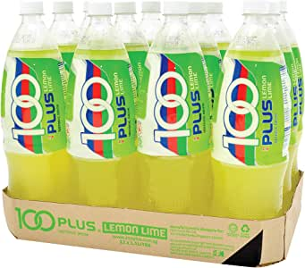 100 Plus Isotonic Drink, Lemon Lime, 1.5L (Pack of 12)