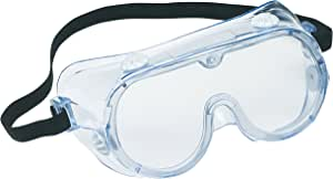 3M TEKK Protection Chemical Splash/Impact Goggle, 91252-80025T, Black/Clear, 1 Pack